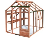 Growhouse 6ft Wide Cedar Greenhouses