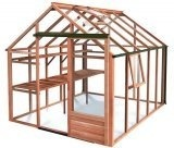 8ft Wide Growhouse Cedar Greenhouse