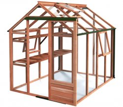 Growhouse 6x8 Cedar Greenhouse