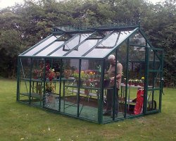 9 x 12 Green Eden Sherborne Greenhouse